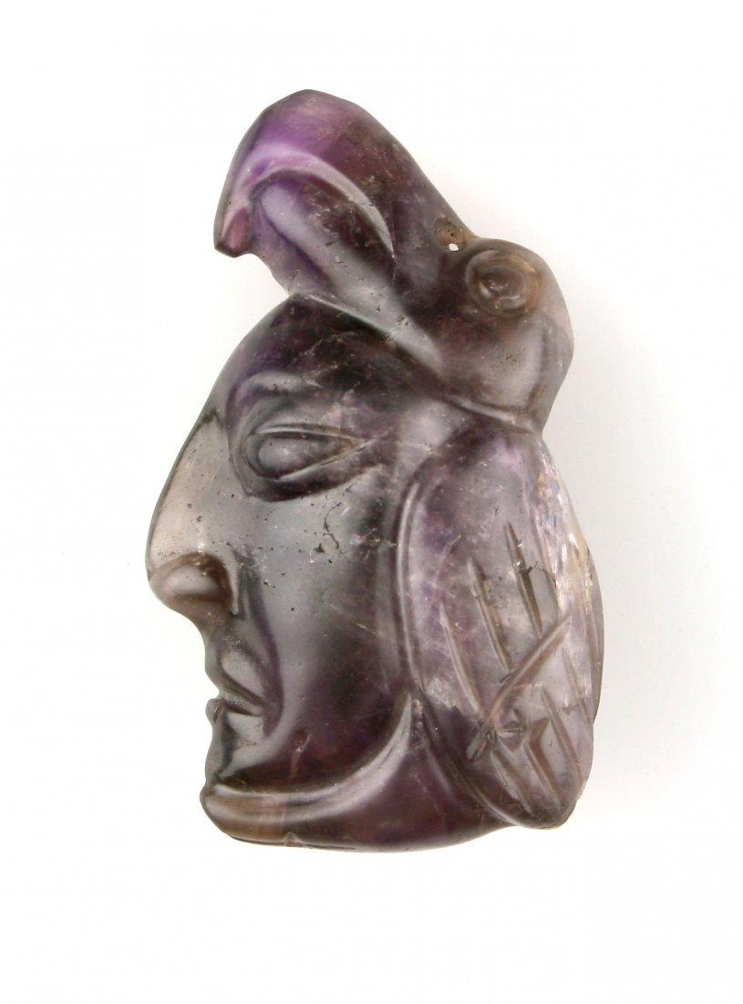 "2 1/4"" Fluorite/Amethyst Carving - 2"