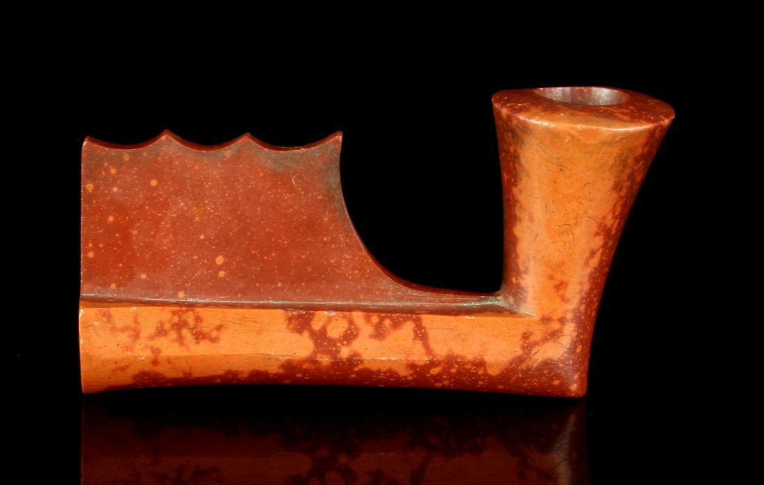 "5"" Keeled Catlinite Plains pipe - 3"