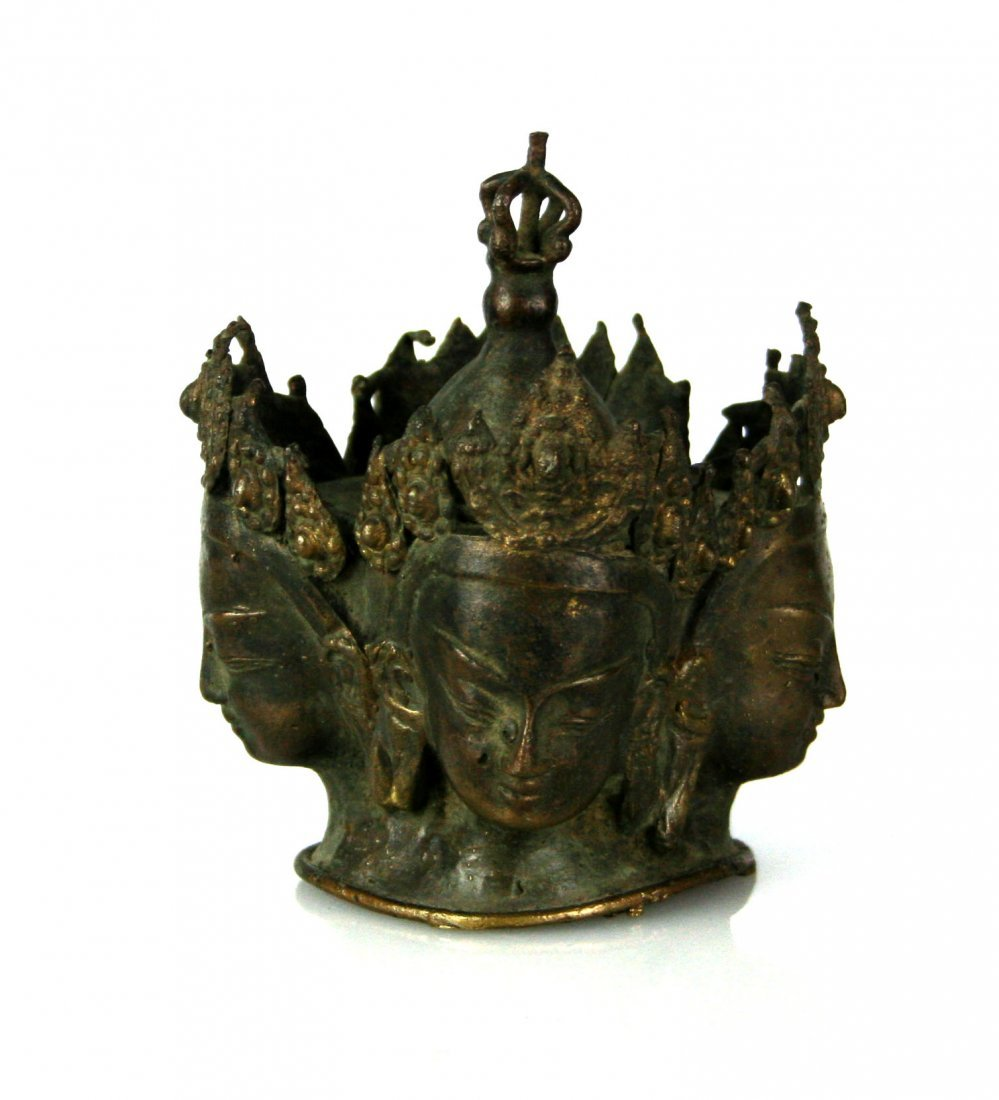 "4 1/4"" Bronze Buddhist Sculpture"