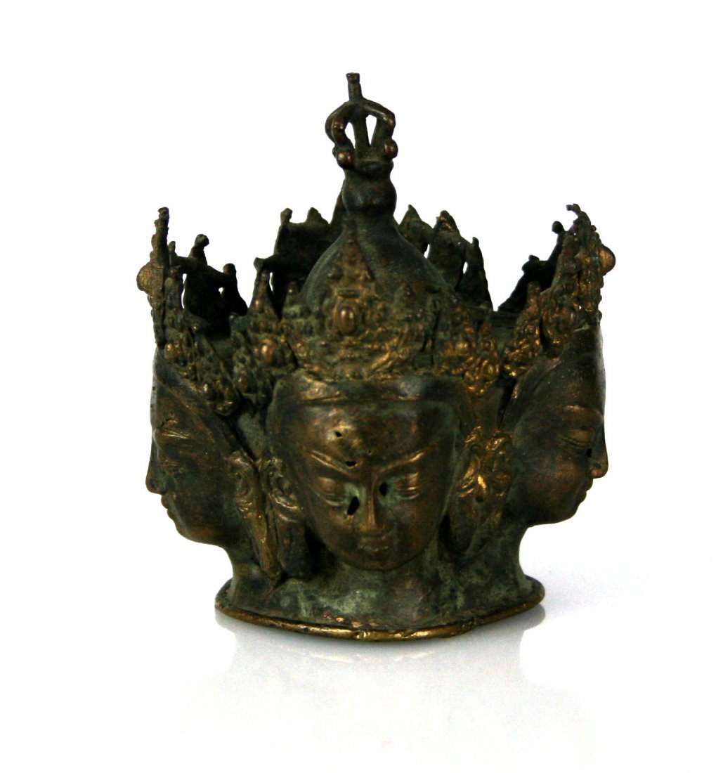 "4 1/4"" Bronze Buddhist Sculpture - 3"