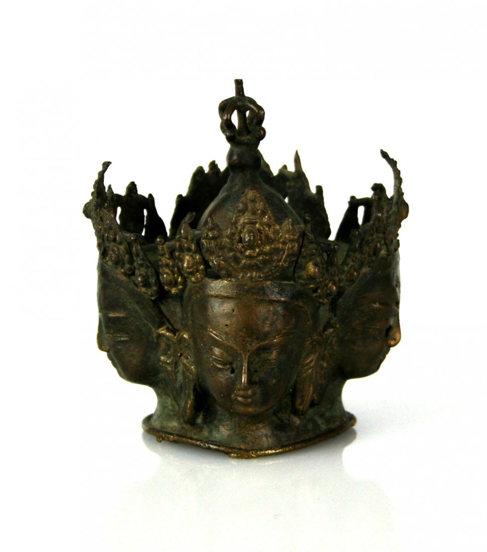 "4 1/4"" Bronze Buddhist Sculpture - 4"