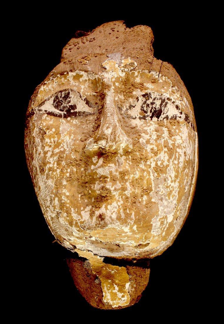 Egyptian Cartonnage Sarcophagus Mummy Mask