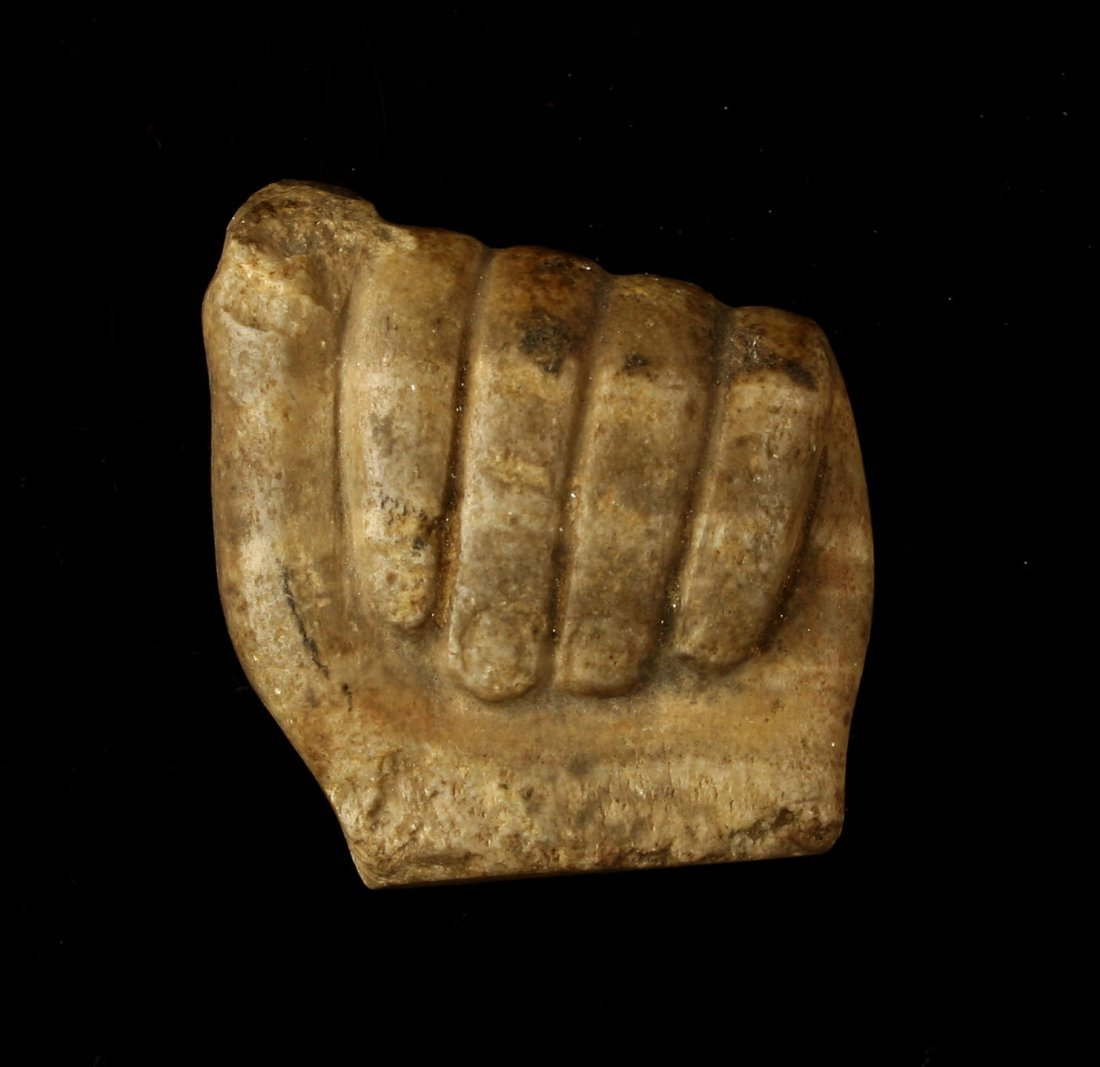 """1 13/16"""" Carved Egyptian Stone Hand"""