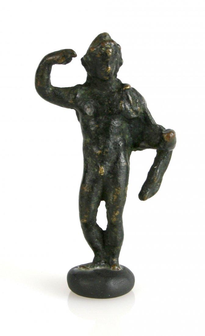 """3 1/4"""" Roman Bronze Male Statuette"""