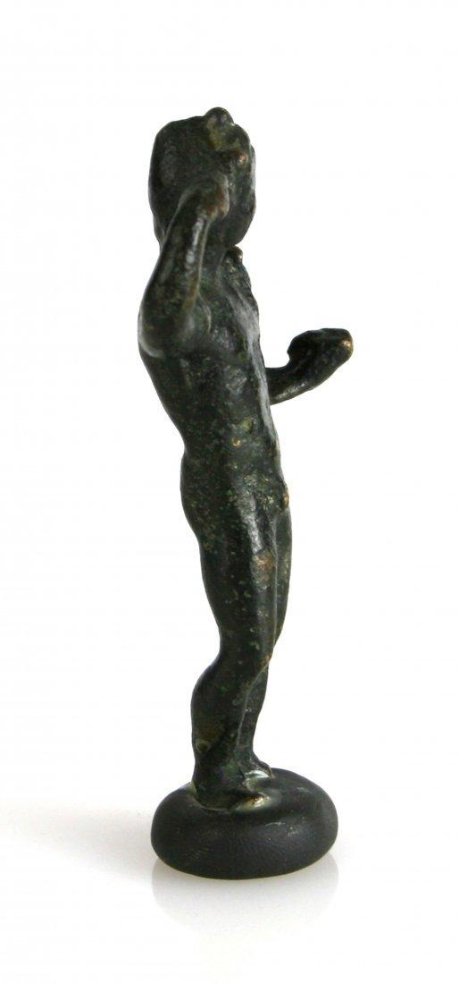 """3 1/4"""" Roman Bronze Male Statuette - 3"""