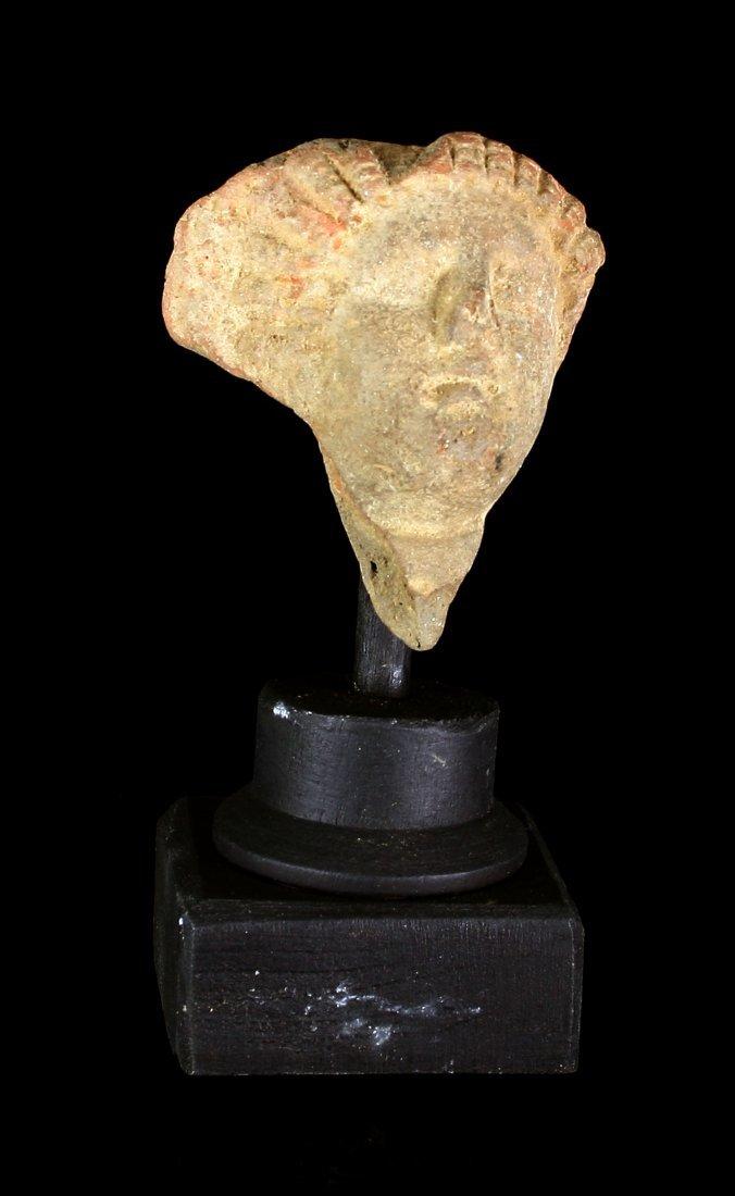 """2 1/4"""" Roman Terracotta Cherub Fragment"""
