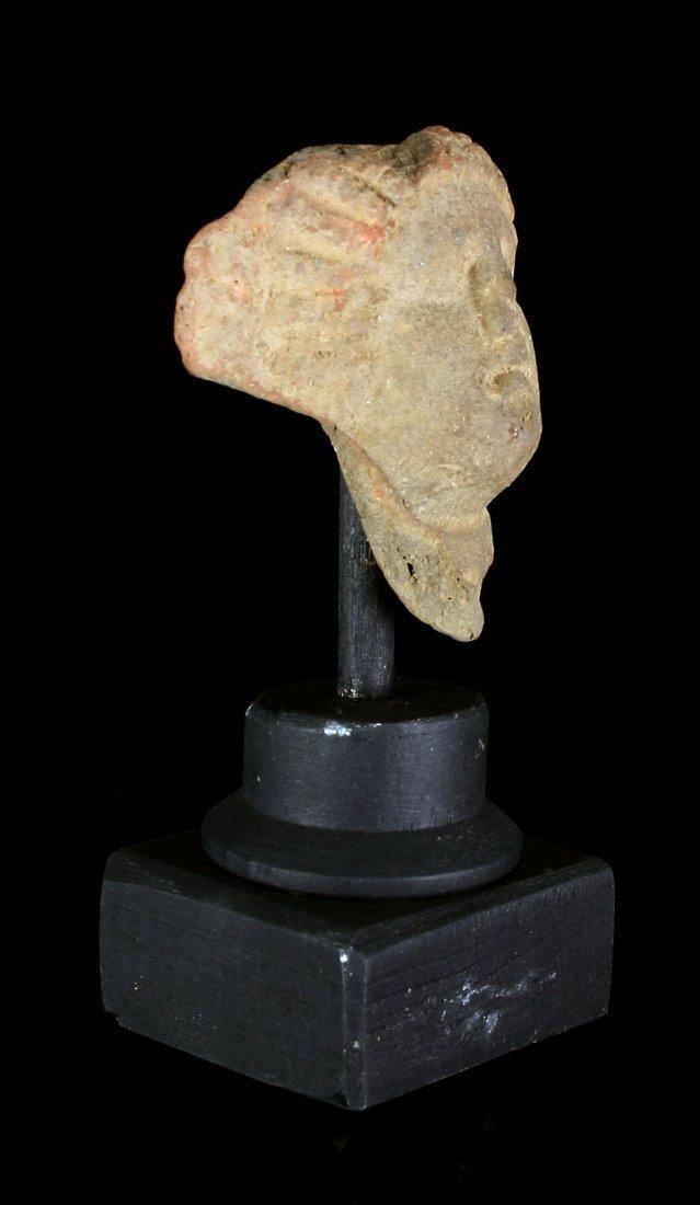 """2 1/4"""" Roman Terracotta Cherub Fragment - 2"""