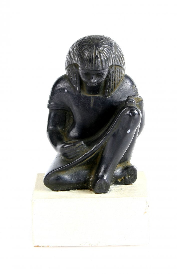 Museum Replica Seated Egyptian Scribe