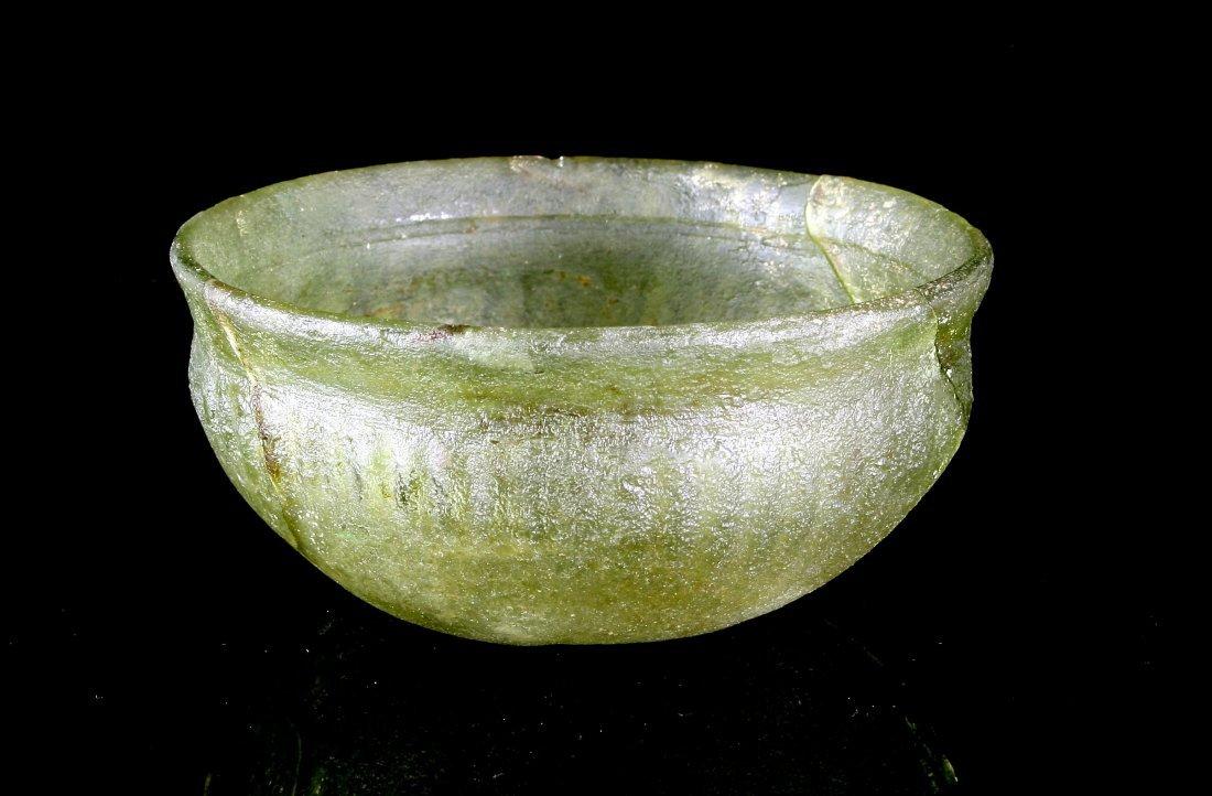 "5 1/8""x2 1/4"" Roman Glass Bowl - Pillar Style"