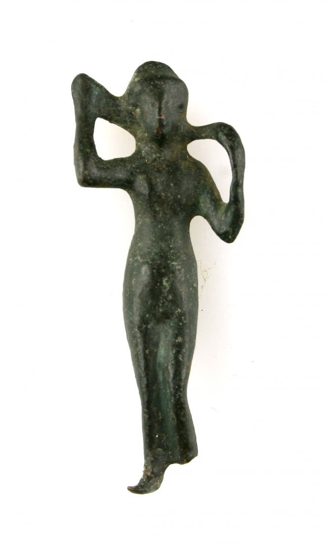 "2 1/2"" Roman Bronze Figural statue of a woman.."