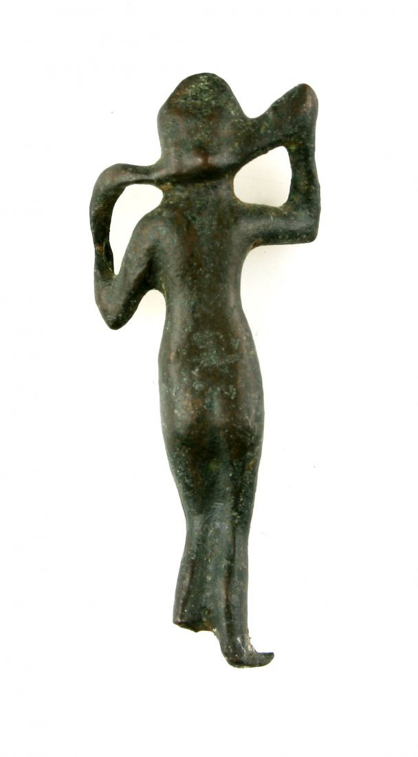 "2 1/2"" Roman Bronze Figural statue of a woman.. - 2"