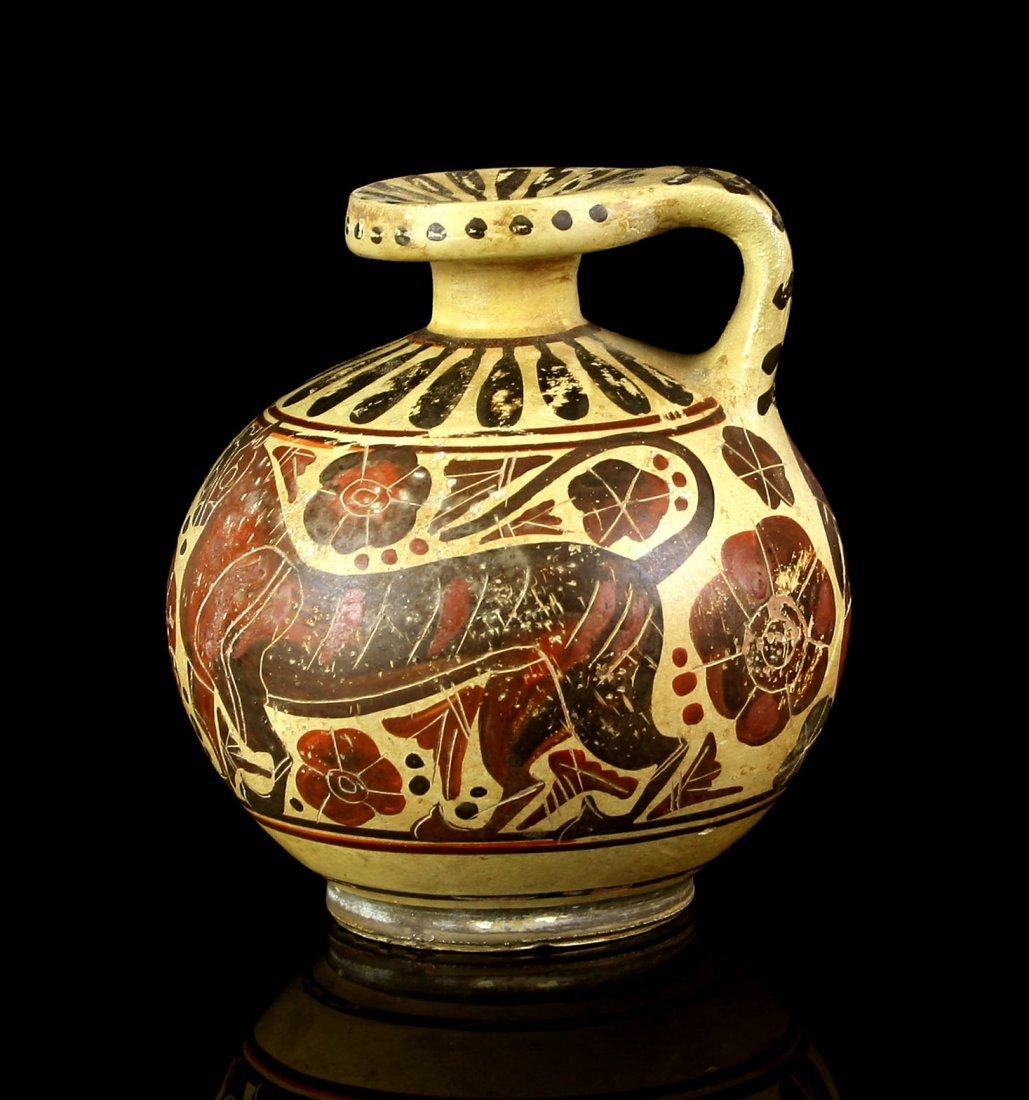 """Fantastic 3 7/8"""" Etrusco-corinthian Aryballos - 2"""