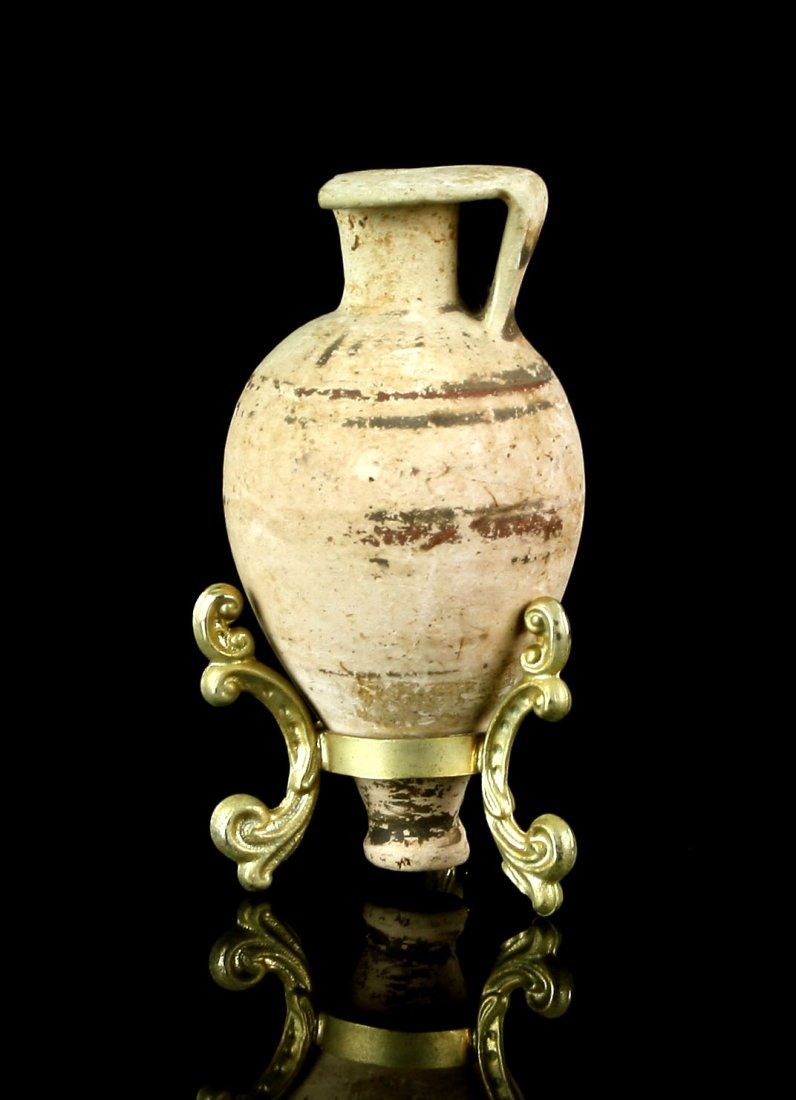 "3 1/2"" Etrusco-corinthian Amphora with stand"