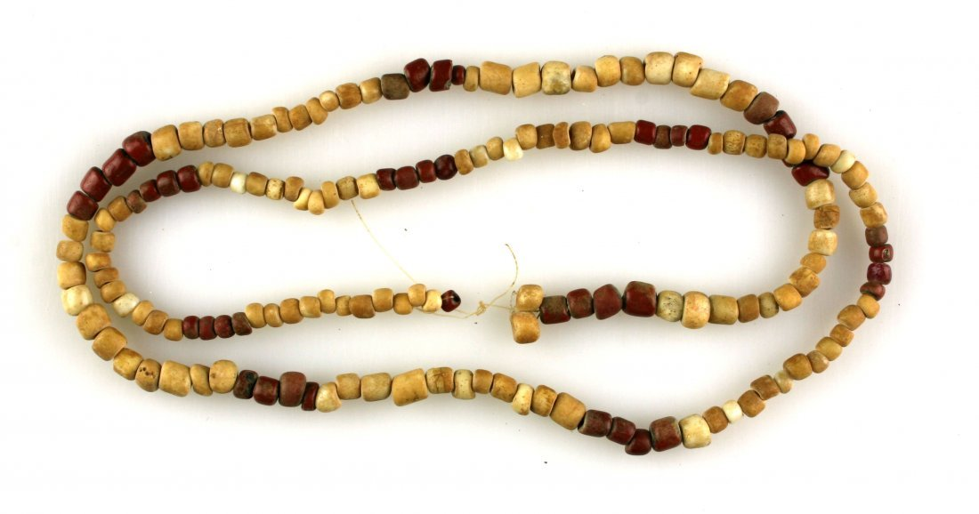 """36"""" Strand of Red & White Padre Beads"""