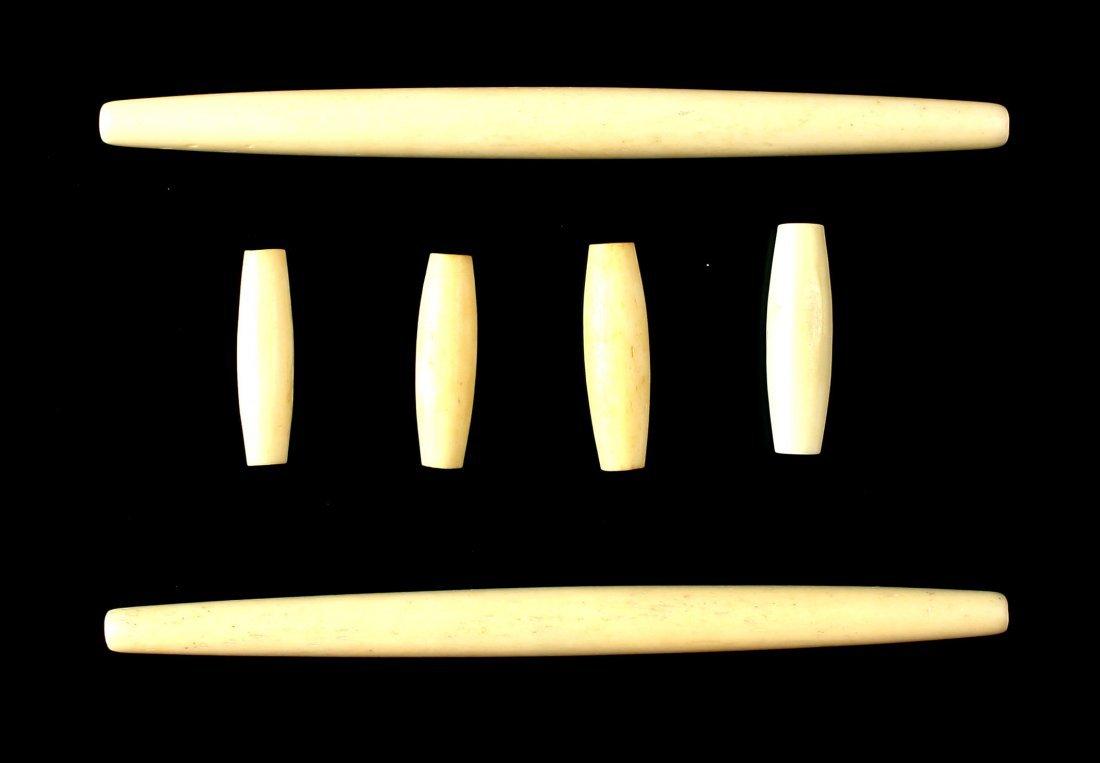 6 Bone Hairpipe Beads