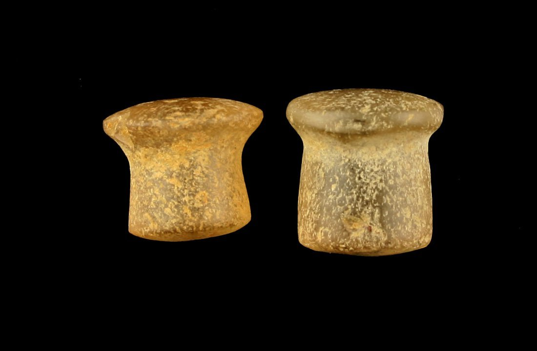Pair of Neolithic African Ear Spools