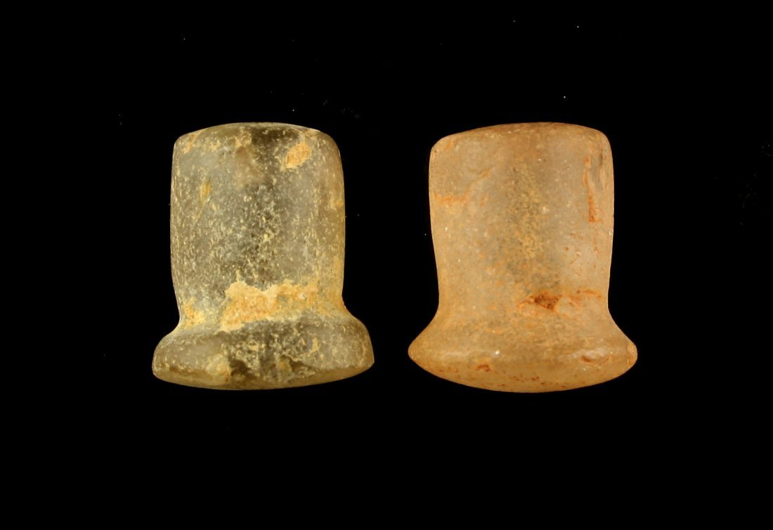 Pair of Neolithic African Ear Plugs