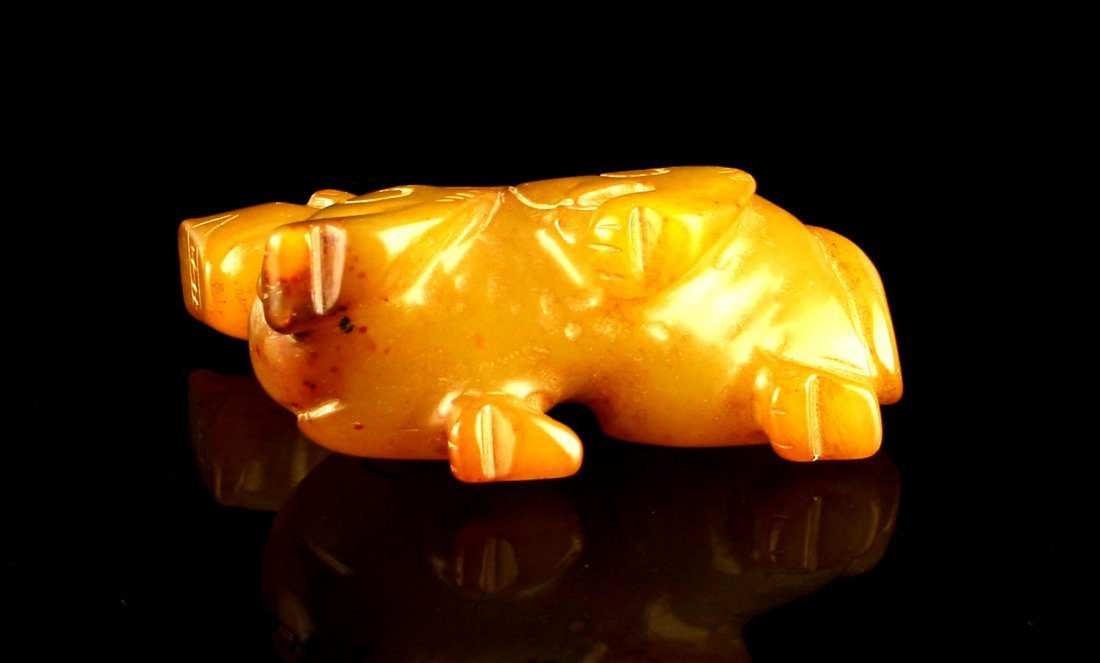 "2 1/4"" Chinese Carved Jade Dragon or Horse - 6"