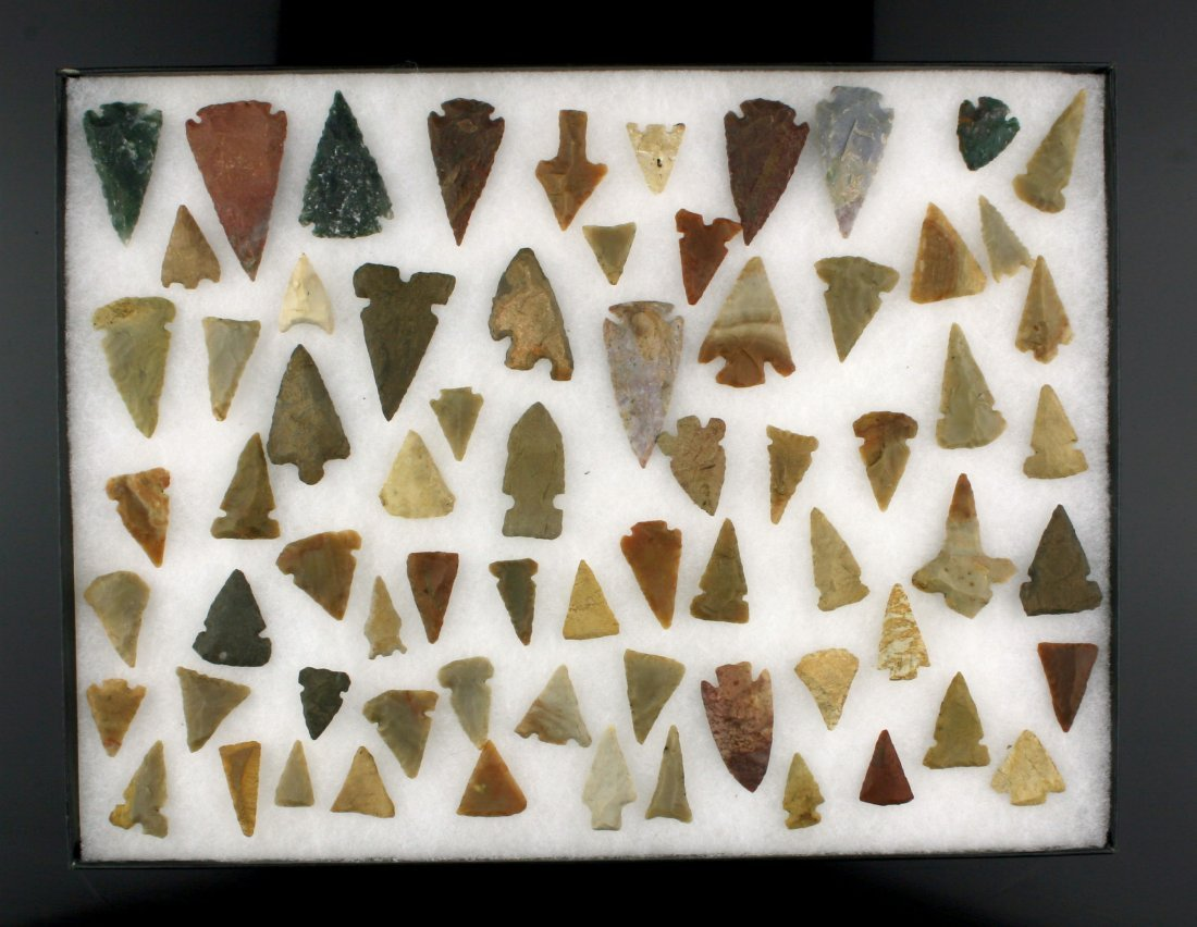 12x18 Decorative Frame of 69 Arrowheads