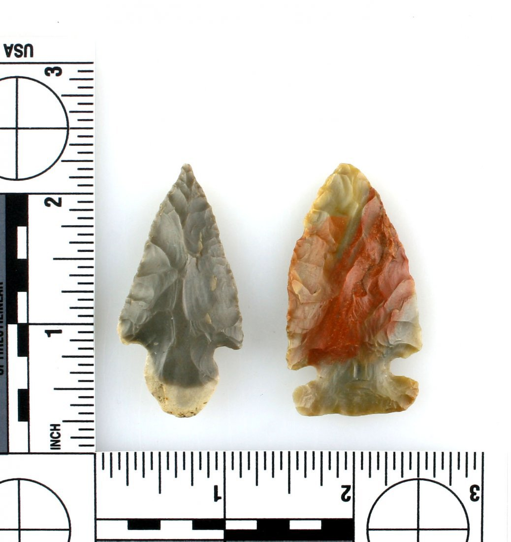 Pair of Kentucky Arrowheads with Case