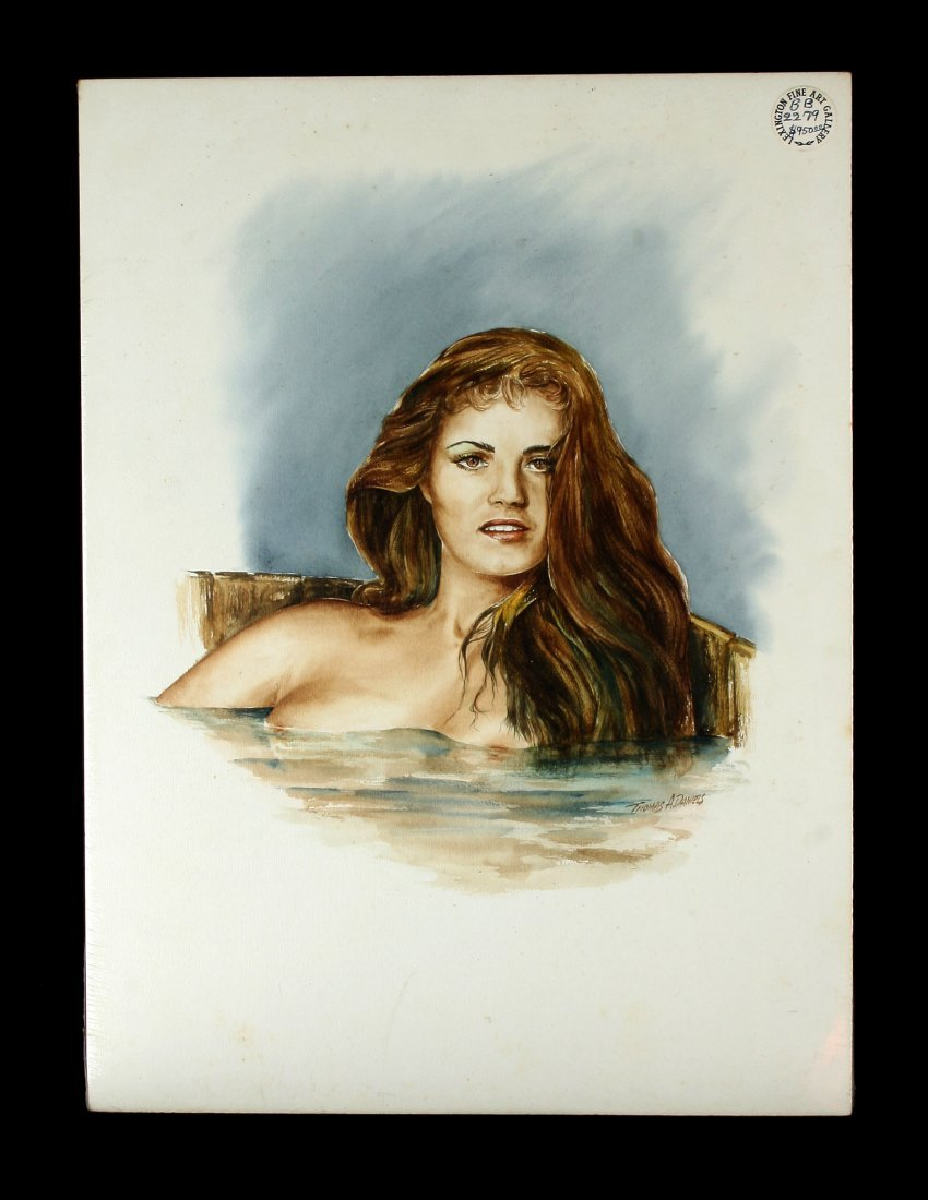 "15x20"" Erotic Watercolor/Mixed Media"