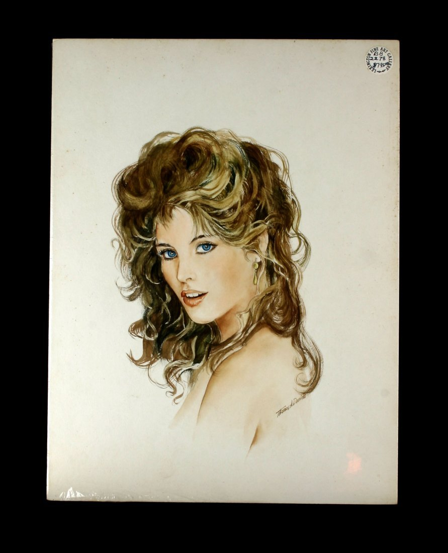 """15x20"""" Watercolor of a Young Woman"""