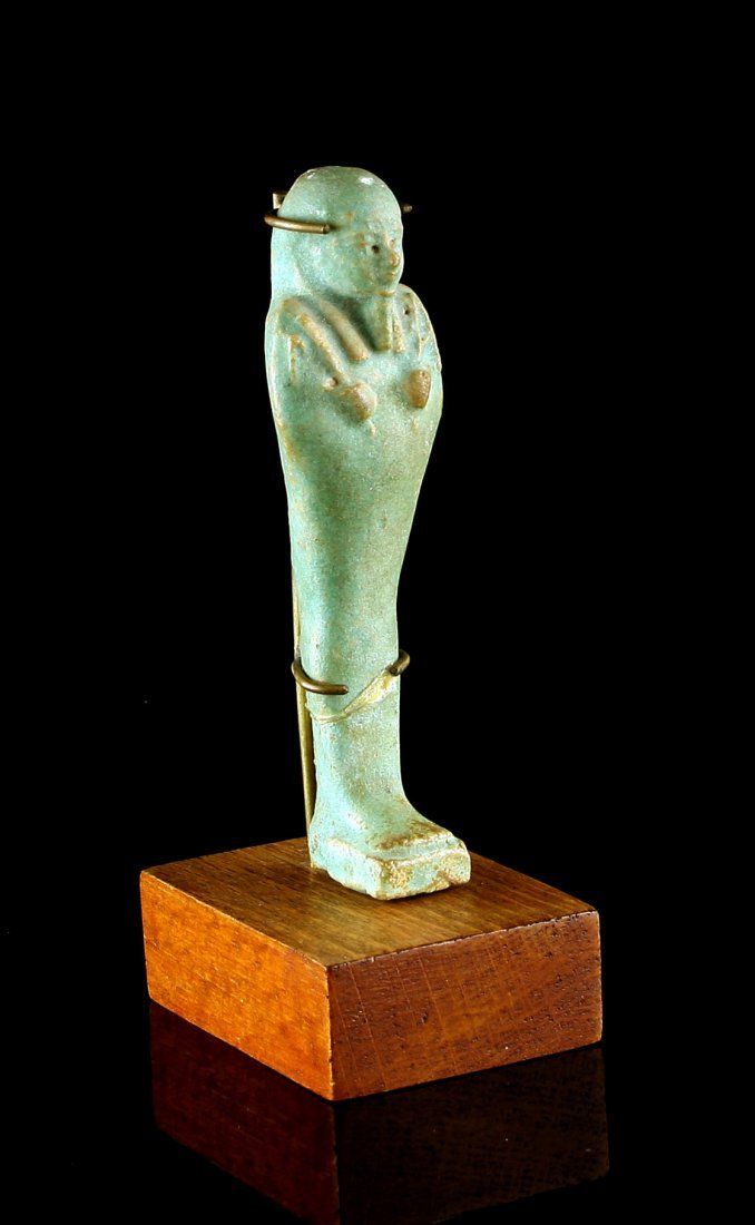 "4 5/16"" Egyptian Ushabti with stand *Repaired - 2"