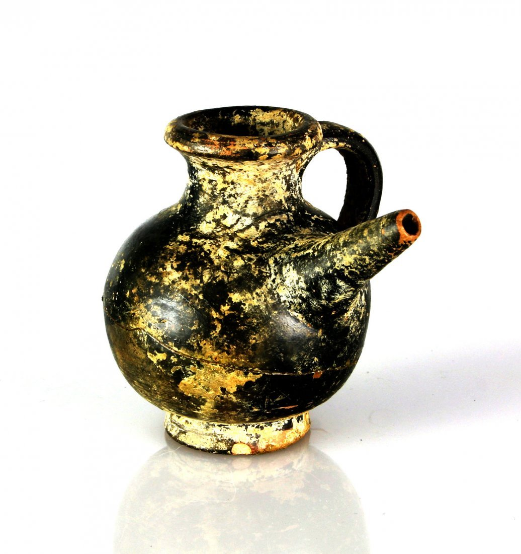 """2 11/16"""" Greek Aryballos with Spout - *REPAIRED"""