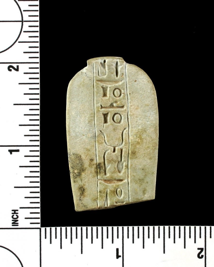 "1 13/16"" Egyptian Faience Talisman - 2"