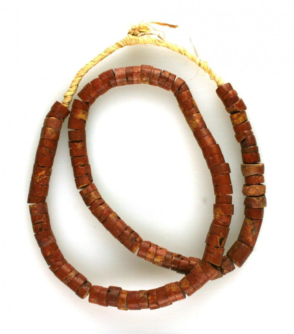 """26"""" Catlinite Bead Necklace"""