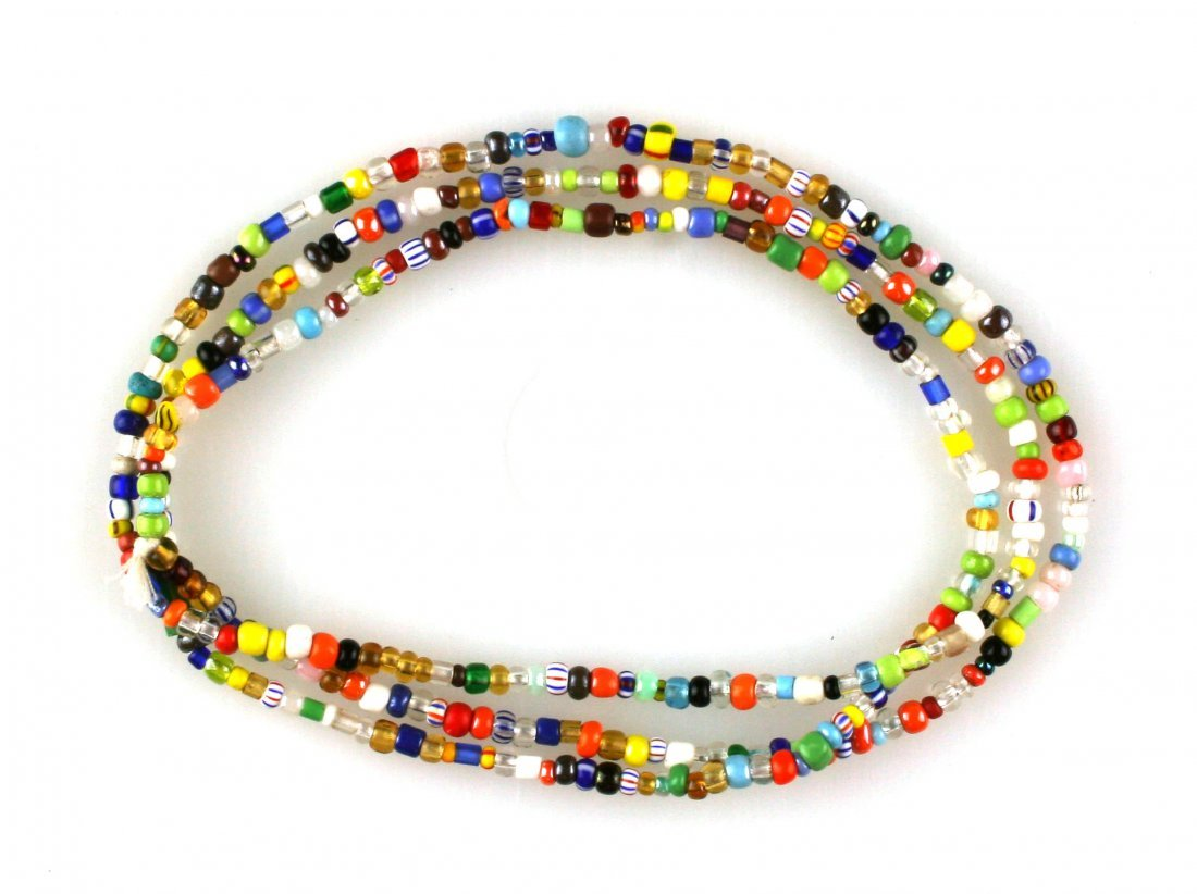 """35"""" Glass Beaded Trade Necklace"""