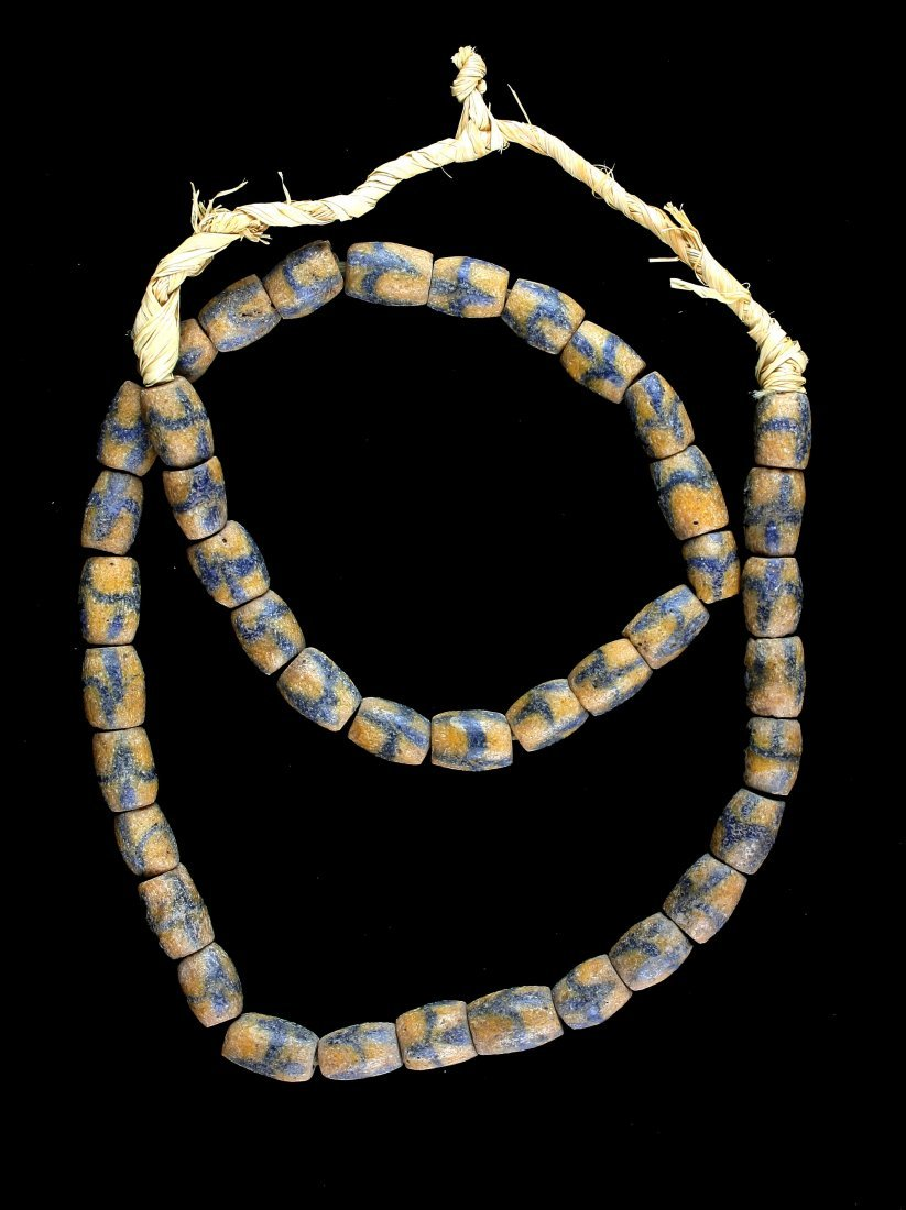 "24"" Sand Cast Trade Bead Necklace - 2"