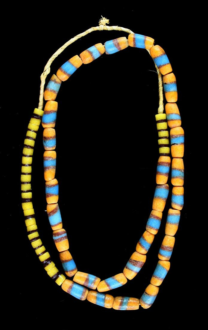 """26"""" Sand Cast Trade Bead Necklace"""
