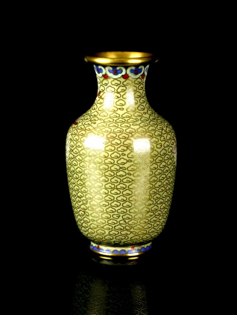 "5"" Cloisonne Vase - 2"