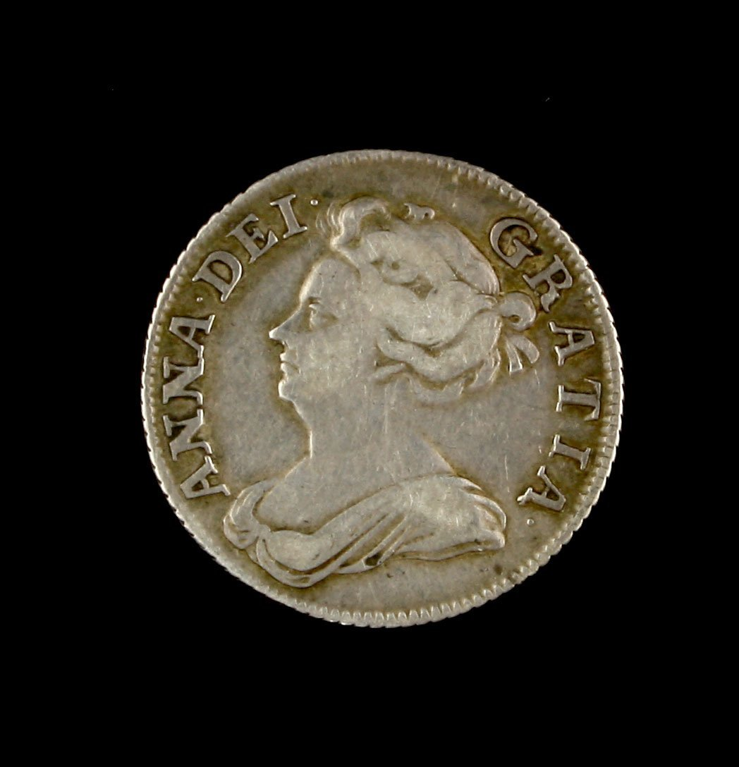 Rare 1708 Plumes Queen Anne Silver Shilling