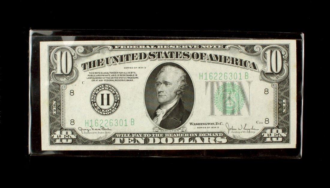 1934D $10 Ten Dollar Note