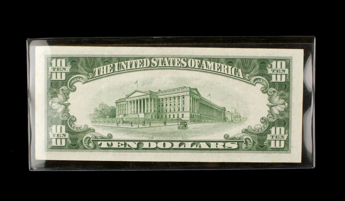 1934D $10 Ten Dollar Note - 2