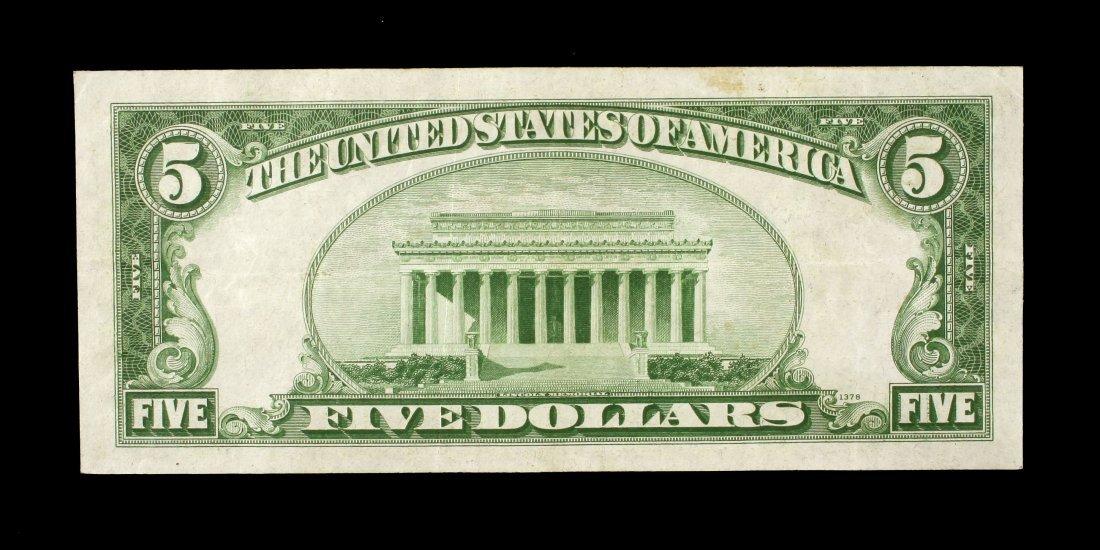 1934A Lincoln $5 Bill. - 2