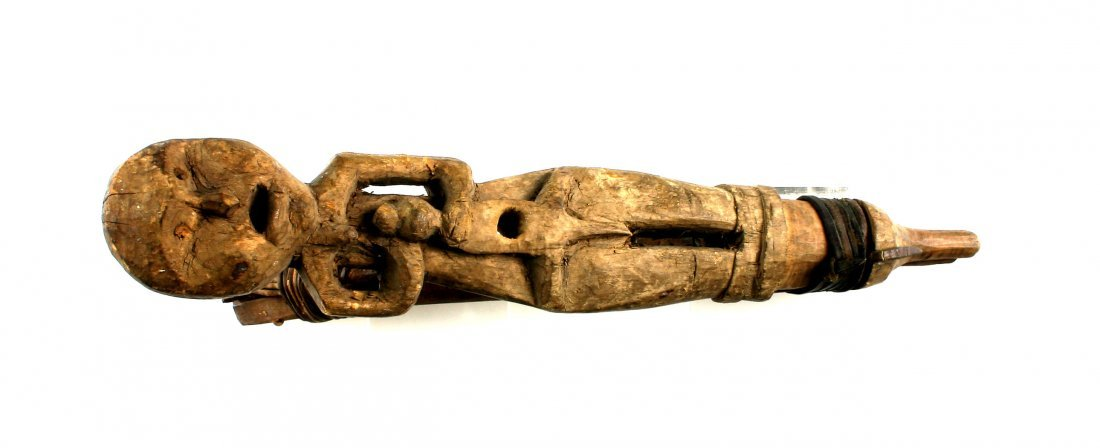 "11.5"" Tlingit Figural Effigy Halibut Hook - 3"