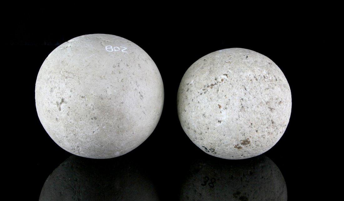 Pair of Large Indian Game Balls