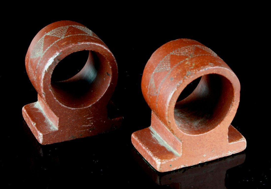 1900's Catlinite Napkin Rings