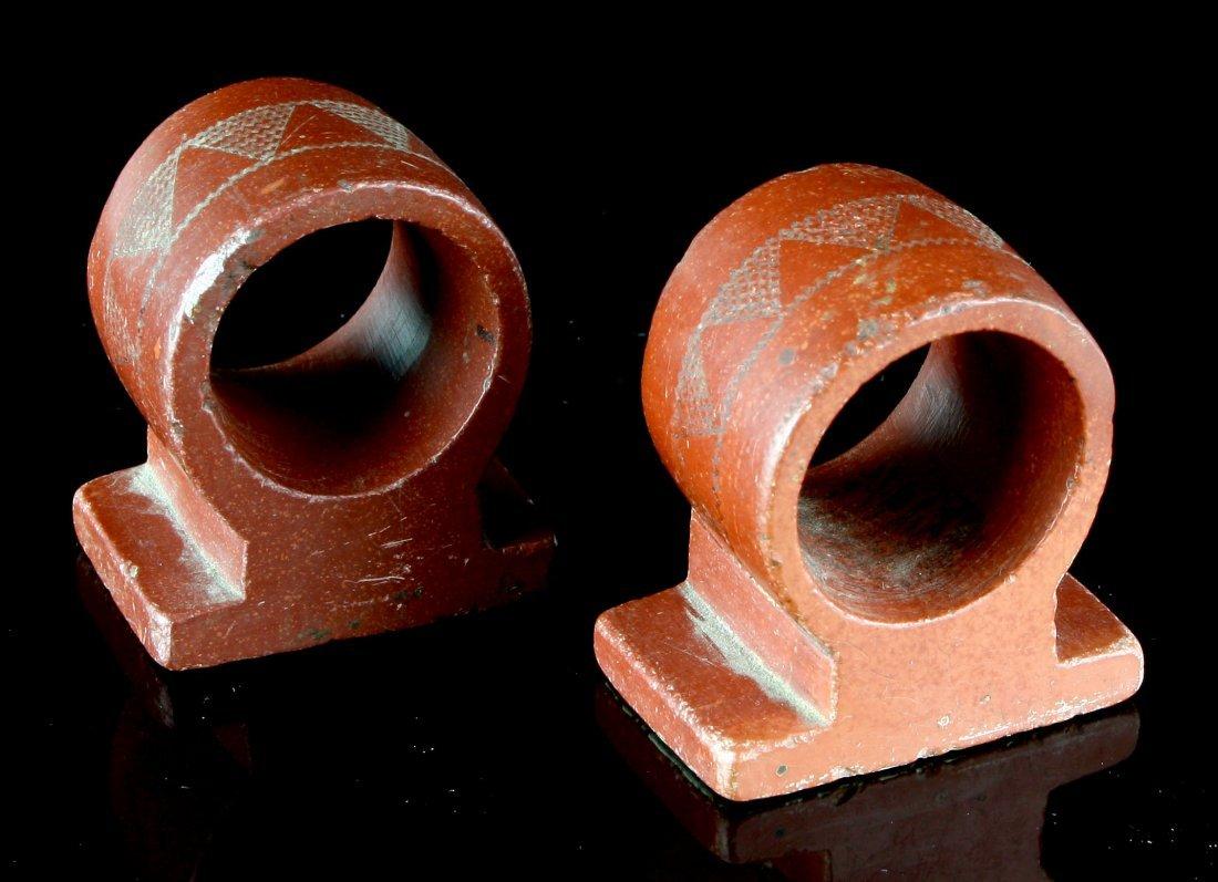 1900's Catlinite Napkin Rings - 2