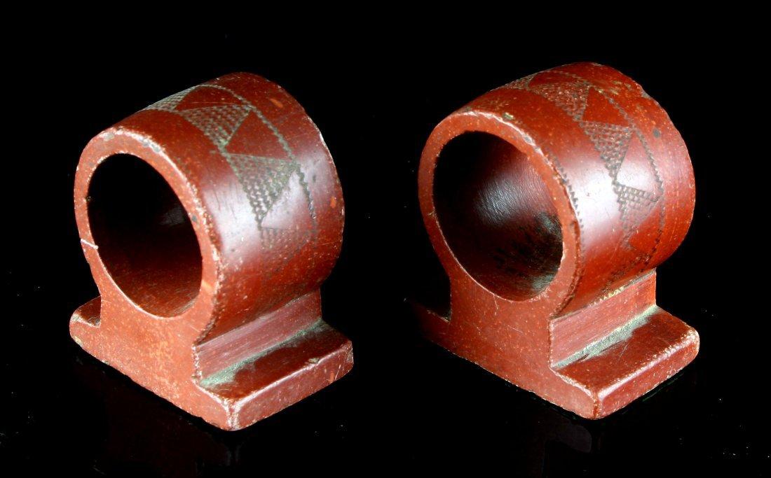 1900's Catlinite Napkin Rings - 3