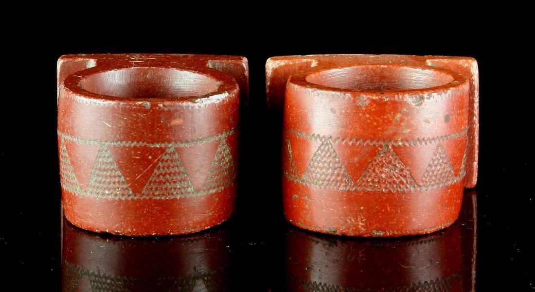 1900's Catlinite Napkin Rings - 4