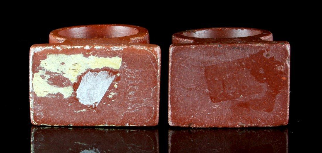1900's Catlinite Napkin Rings - 5