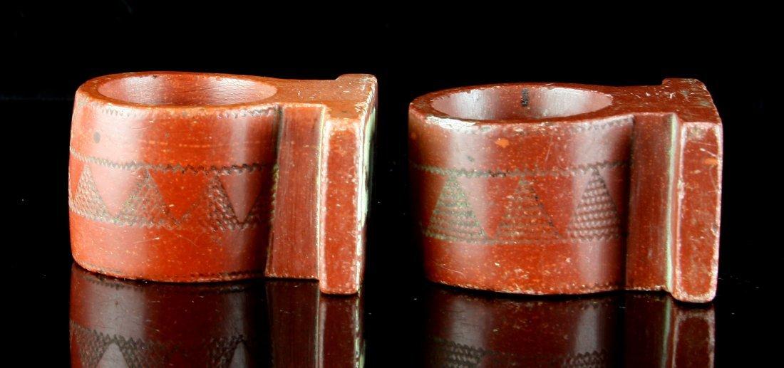1900's Catlinite Napkin Rings - 6