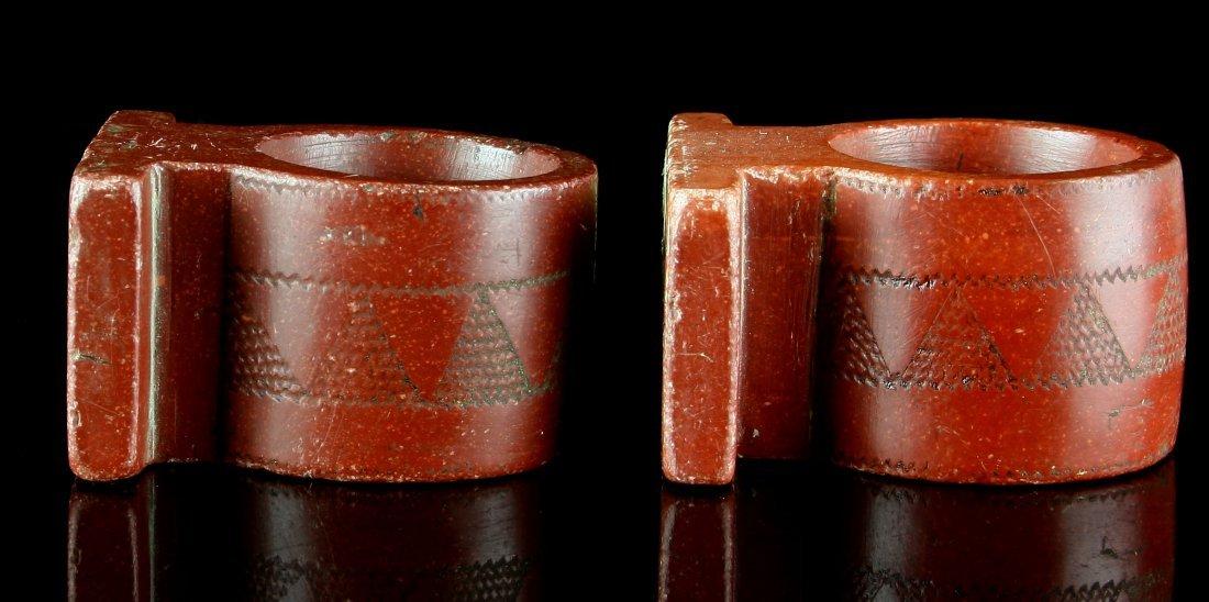 1900's Catlinite Napkin Rings - 7