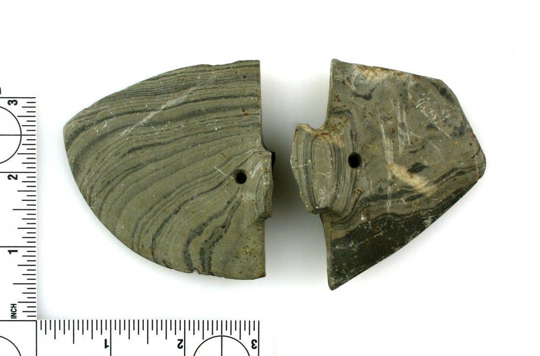 Pair of Broken Butterfly Bannerstones