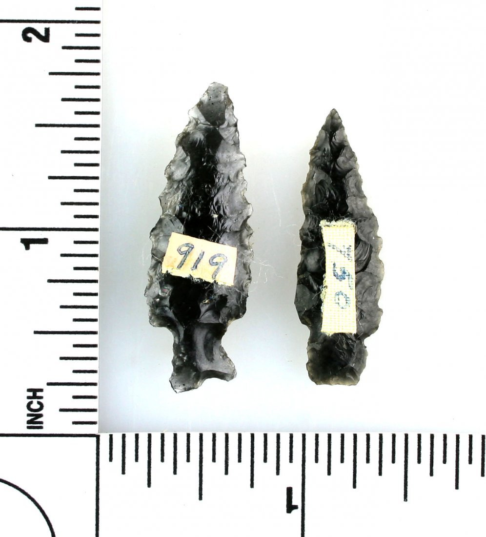 Pair of Obsidian Dart Points - 2