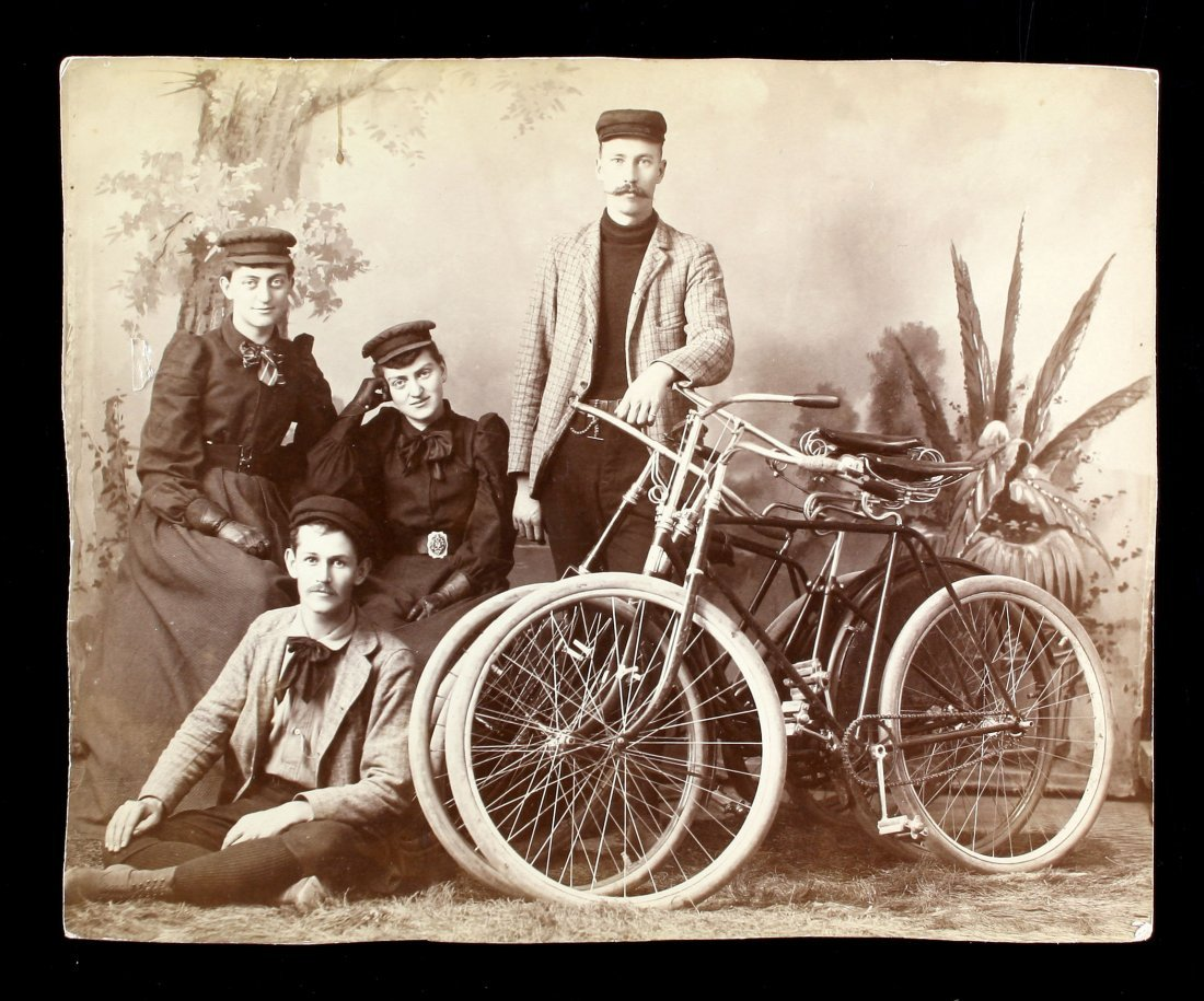 8x10 Early Portrait Photo with Bicycles